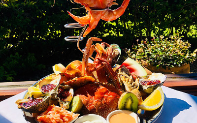 Terrace of Maleny seafood platter and steak experience