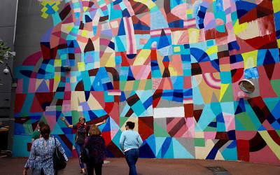 Perth city walking tour street art