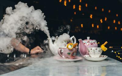 Alice in wonderland high tea cocktail party