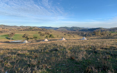 Glenayr Farm glamping property in Mudgee