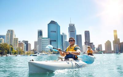 Kayak tour Brisbane River, Queensland