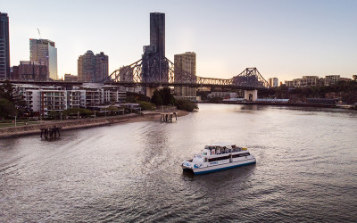 Brisbane twilight cruise with Powerhouse visit