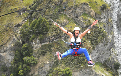 Shotover River Canyon swing