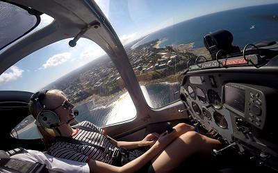 Flying lesson sunshine coast queensland