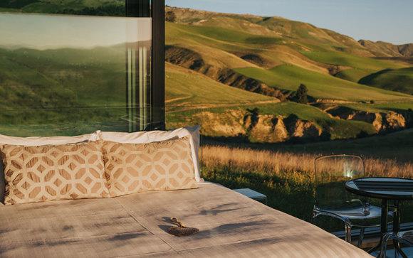Waipara Valley: 1-night luxury eco cabin stay