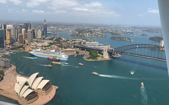 Seaplane flight over Sydney harbour