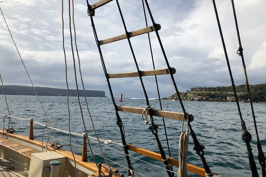 Sailing out of Sydney Harbour