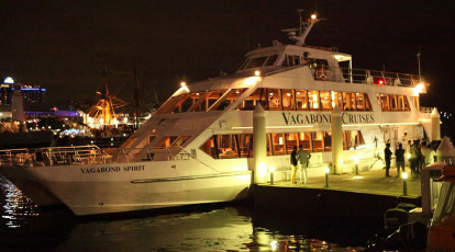 Vagabond cruises cruise boat party on sydney harbour with guests