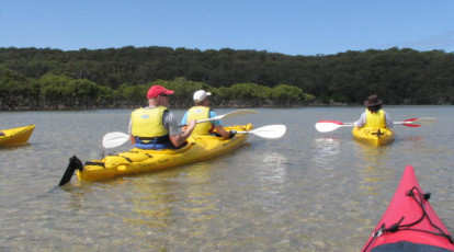Bundeena Guided Kayak Tour in the Royal National Park group kayaking in water