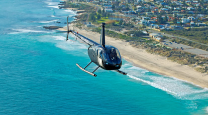 Rotorvation Helicopters flight over hillarys beaches
