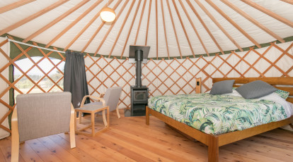 Overnight 5m Yurt Glamping in Wanaka - For 2