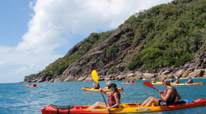 Raging Thunder Adventures pair sea kayak fitzroy island