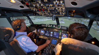 flight simulator melbourne teacher and student in flight simulator