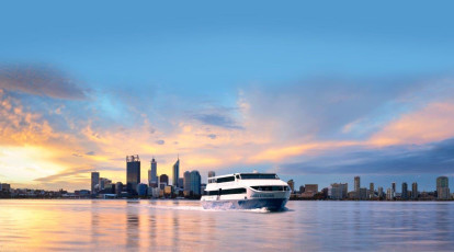 Captain Cook Cruises view of perth skyline
