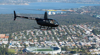 Rotorvation Helicopters flight over perth western australia