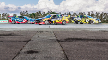 The Driving Centre v8 race cars on track at norwell queensland