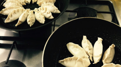 Gourmet Kitchen Food Store dumplings in frypan
