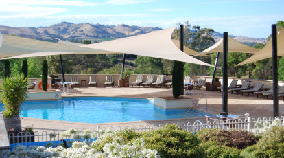 swimming pool at novotel barossa valley