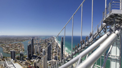 group climbing Q1 tower view of gold coast