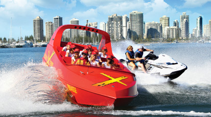 Jet Boat Extreme group on surfers paradise waters queensland