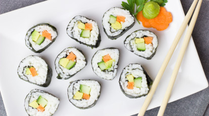 Otao Kitchen Asian Cooking School vegetable sushi