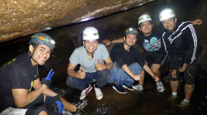 briannia caves adventure at night