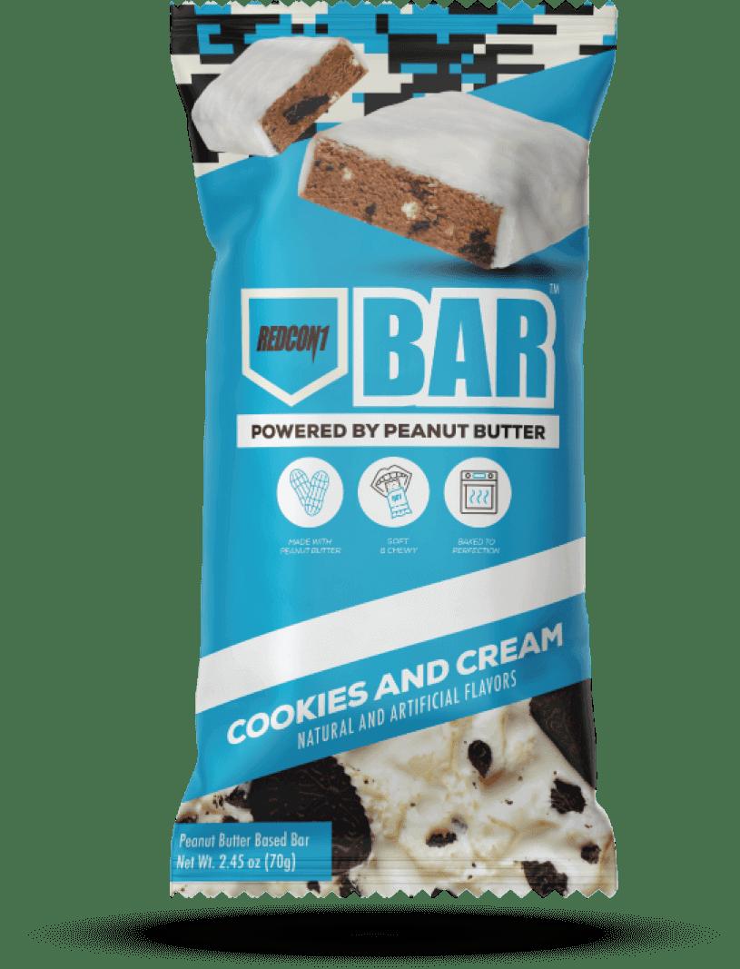 Single Cookies and Cream Bar