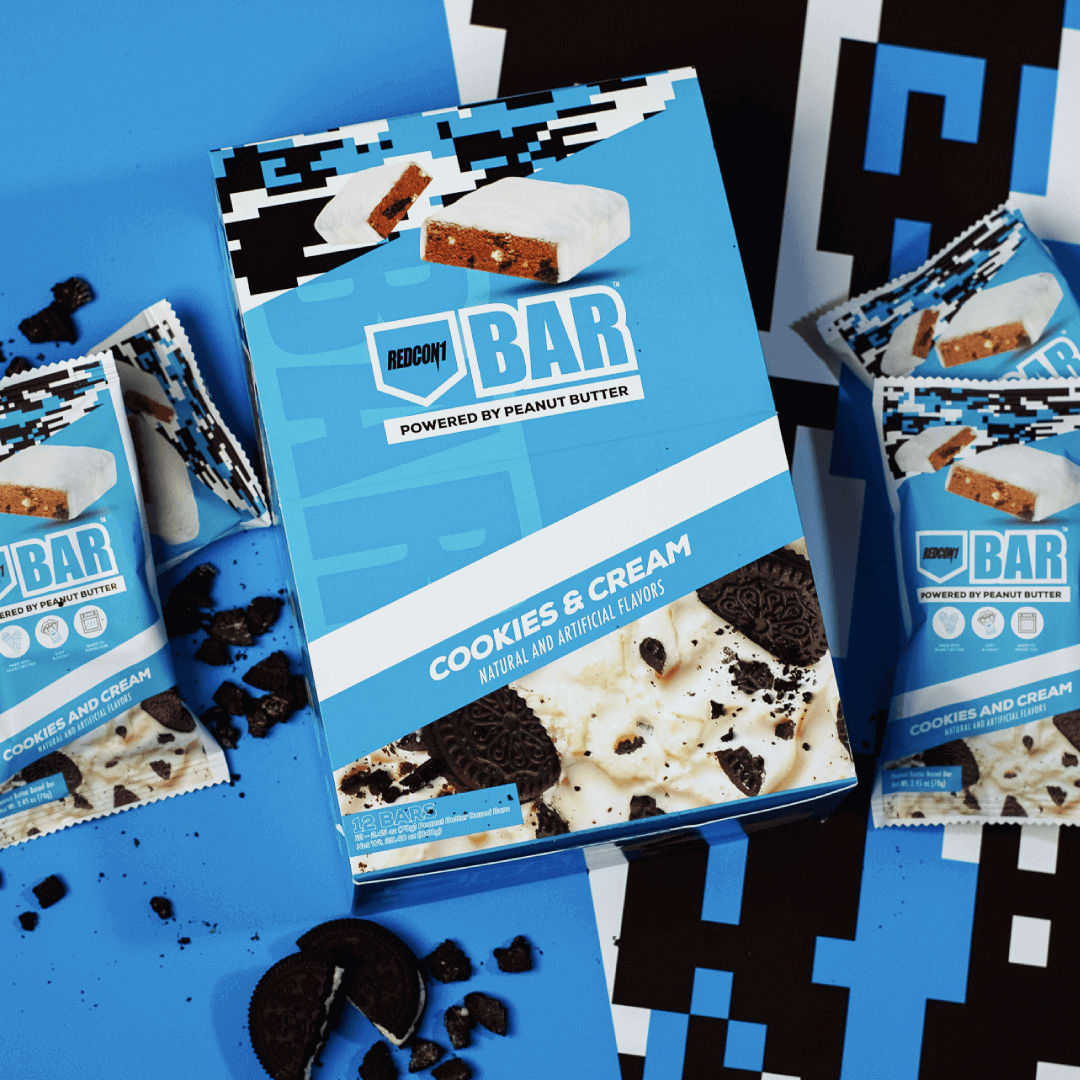 Multiple Cookies and Cream Bars with Box