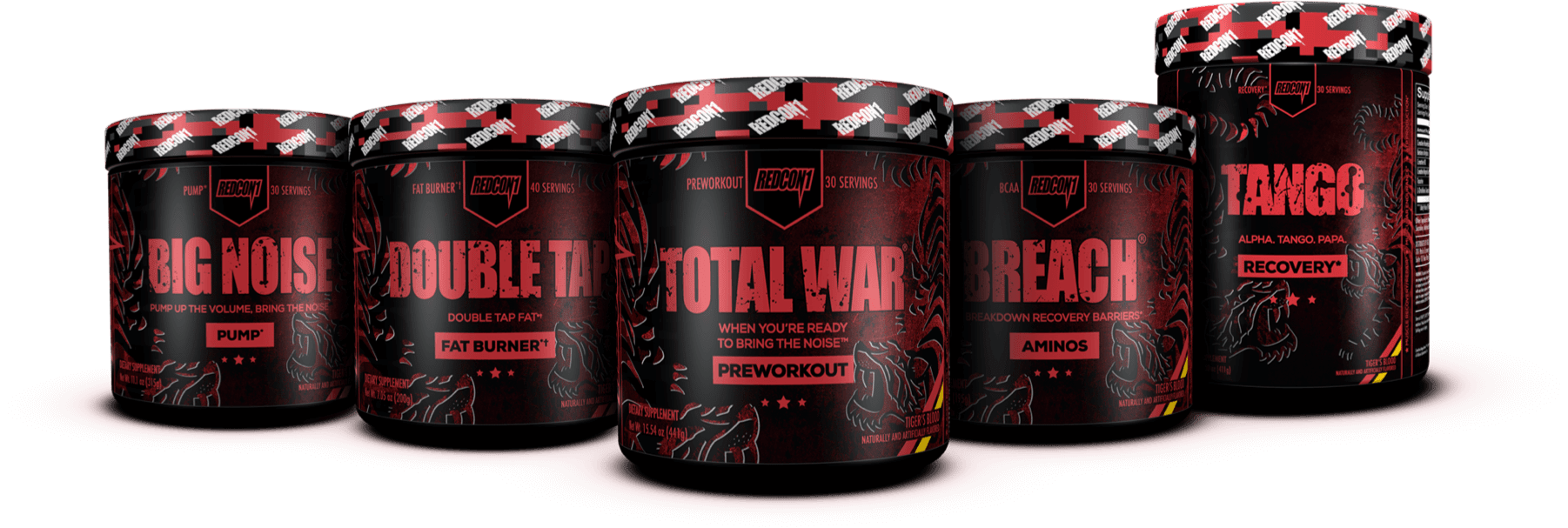 REDCON1 TIGERS BLOOD SERIES SUPPLEMENTS