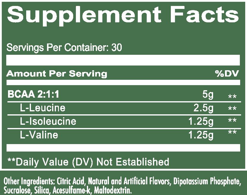 Breach Dragon Blood Supplement Fact