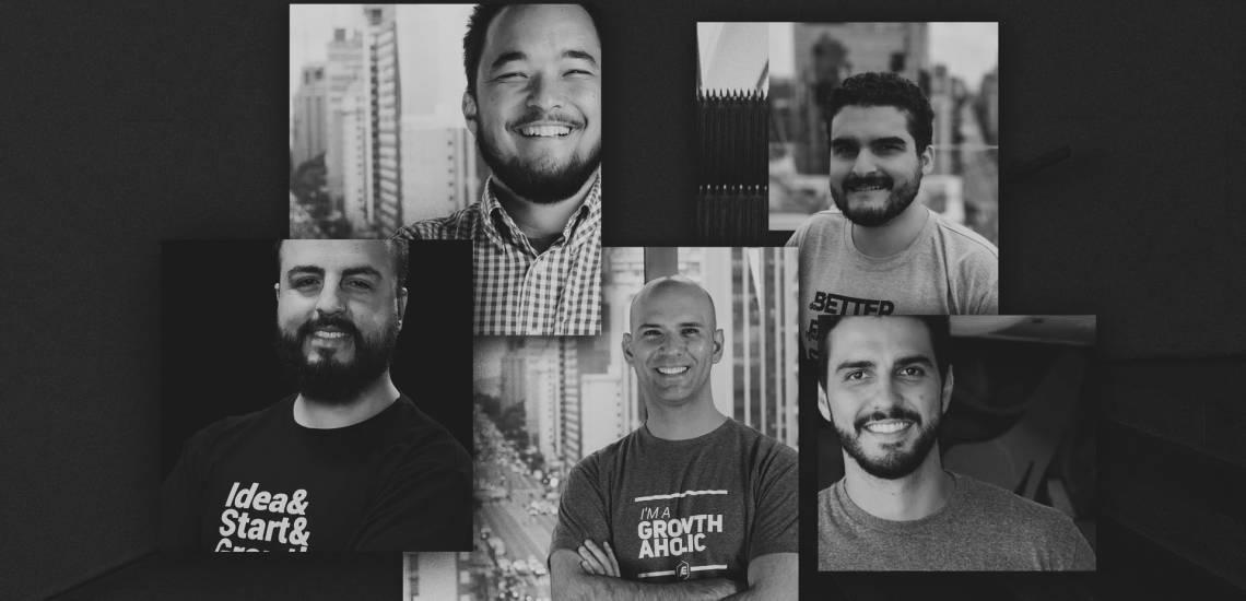 Na imagem, você confere os professores da aula: Luis Gustavo Lima, Pedro Waengertner, Victor Navarrete, Gabriel Ferreira.