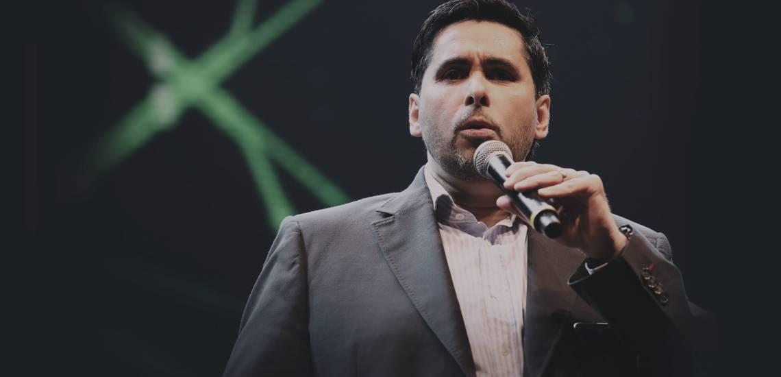 Flávio Augusto, fundador da Wise Up e do meuSucesso.com, durante o Power House 2019, maior evento de empreendedorismo da América Latina.