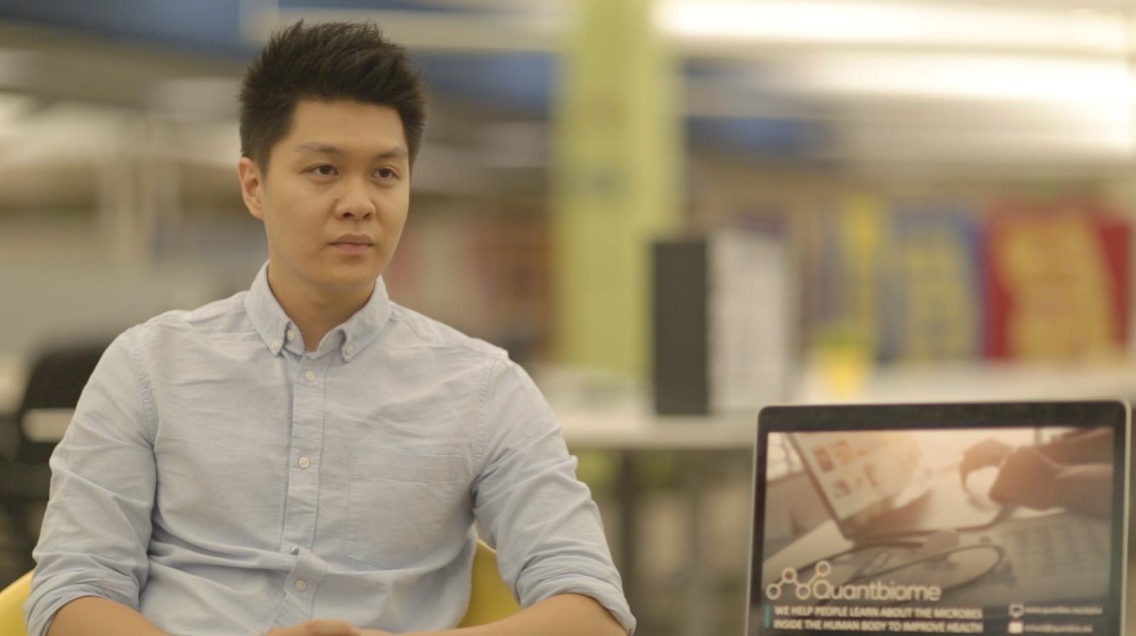 Richard Lin, CEO da Quantbiome.