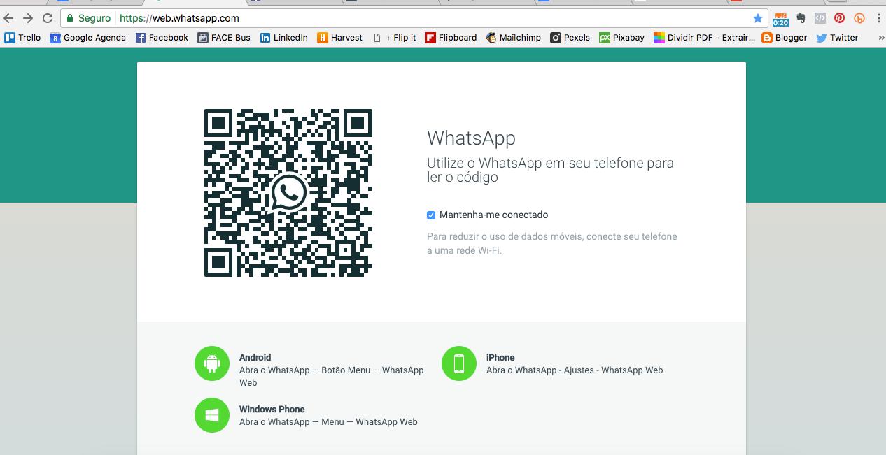 A imagem ilustra o Whatsapp Web e o quanto a ferramenta pode ser útil para a sua organização pessoal
