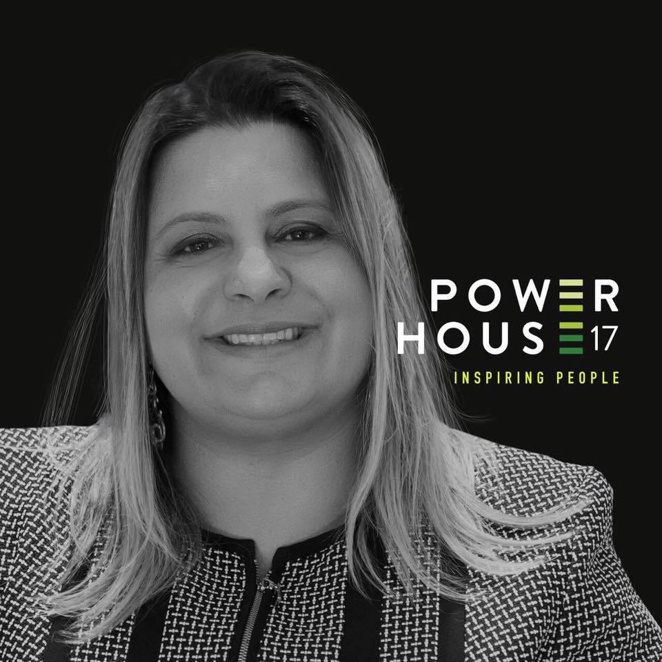 Carla Sarni, fundadora da Sorridents, no Powr House 17, maior evento de empreendedorismo.