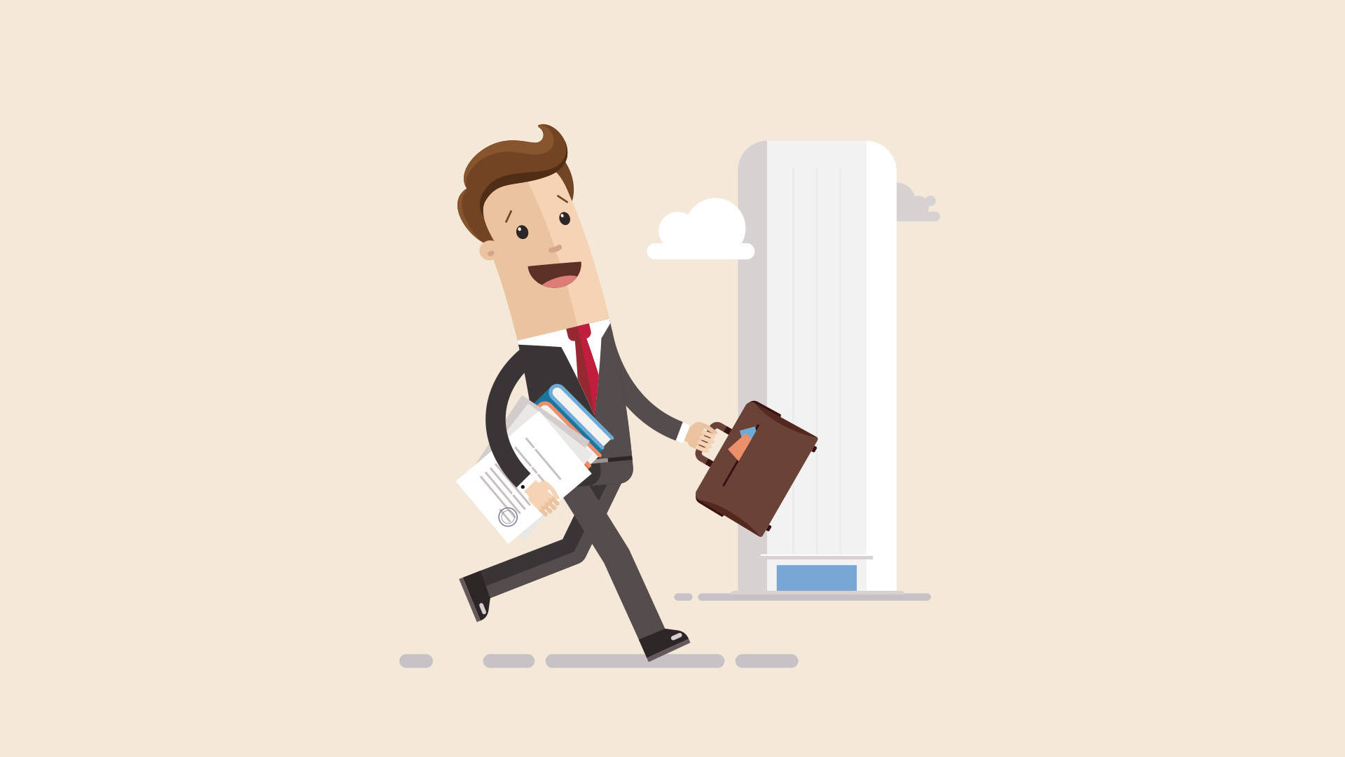 ilustração de empreendedor abrindo uma empresa