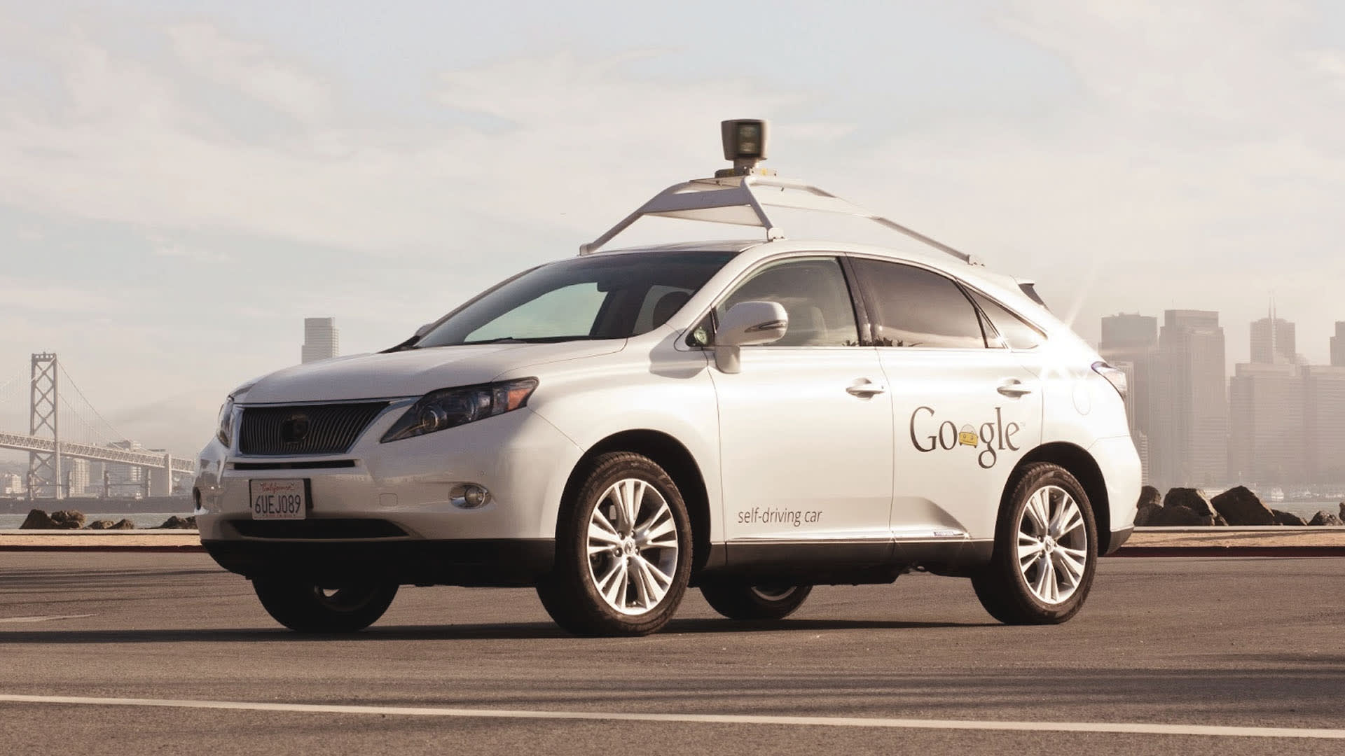 Na imagem, você um carro autônomo do Google.
