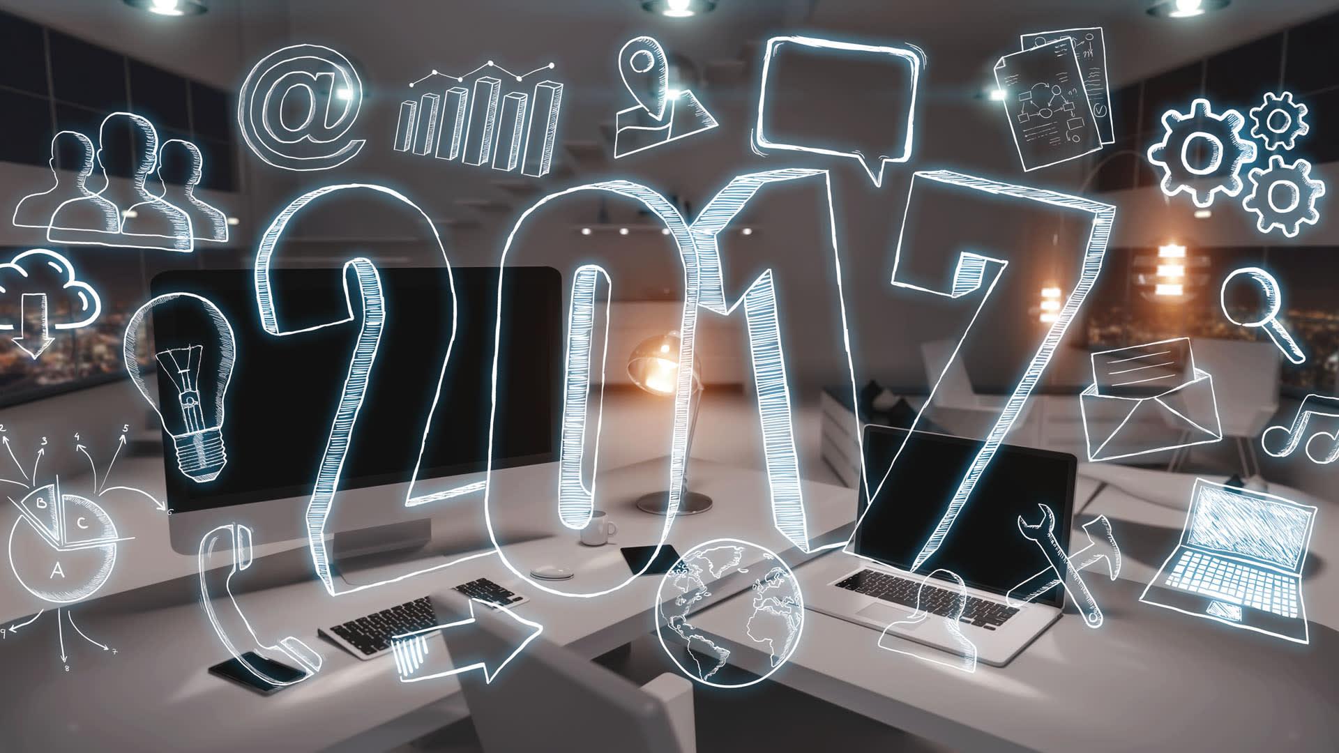Imagem ilustrativa com o desenho do ano de 2017