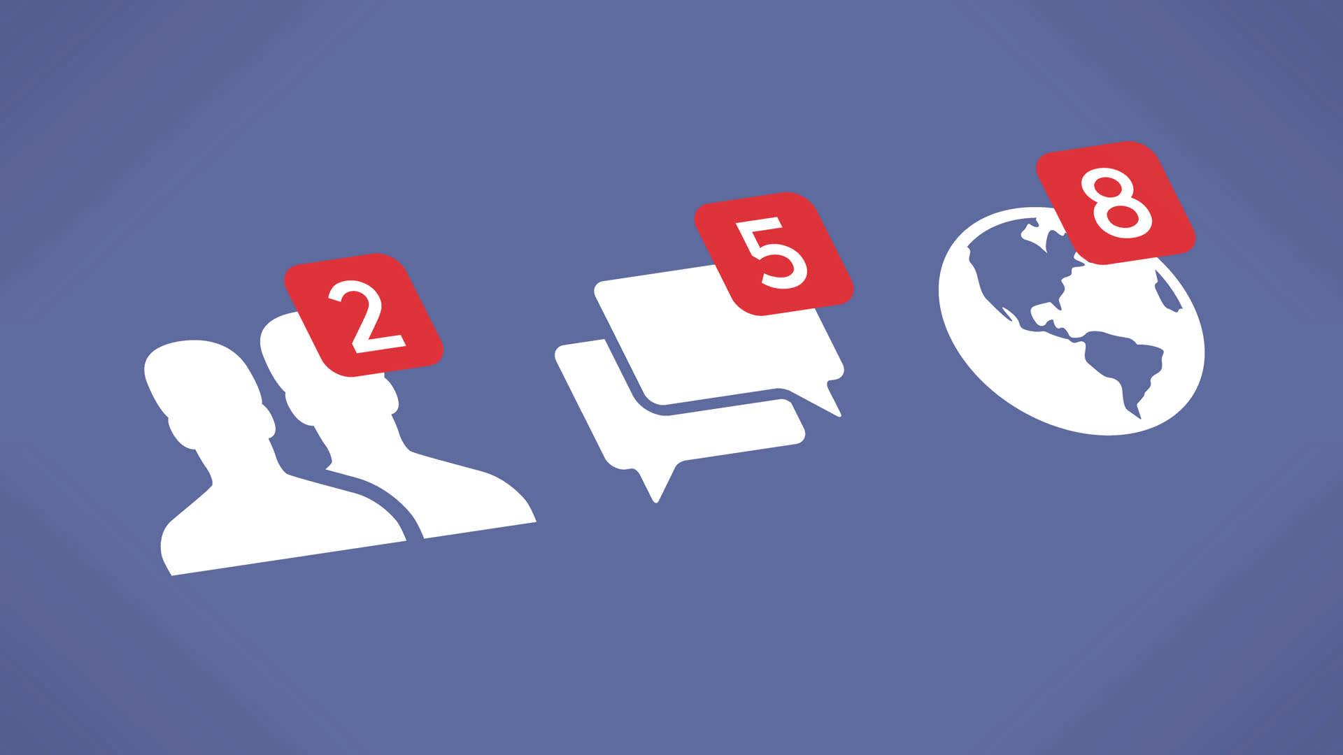 Imagem que retrata os comentários e solicitações de amizade do Facebook