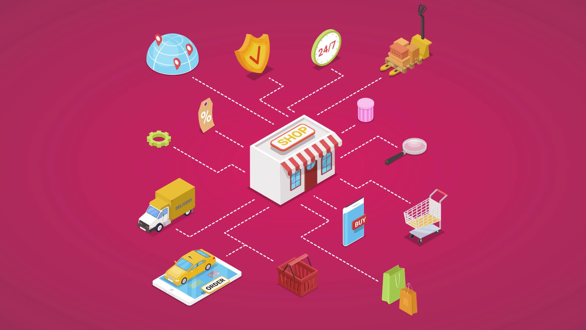 Na imagem, ilustração que representa uma pequena e média empresa (PME).