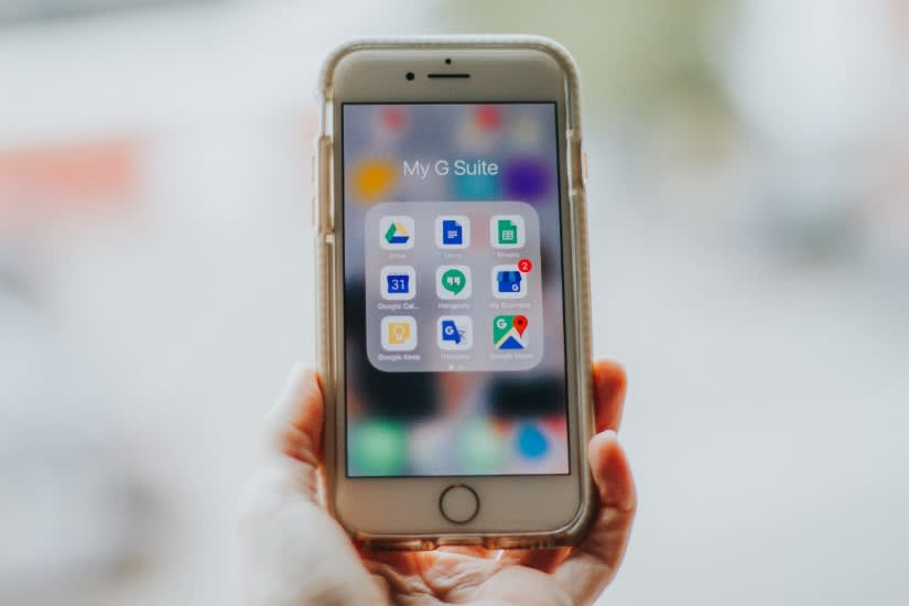 iPhone showing Google apps, including Google My Business