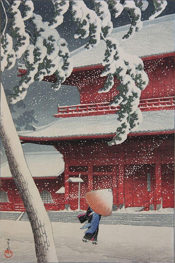 Zōjō-ji in Shiba (1925) by Hasui Kawase