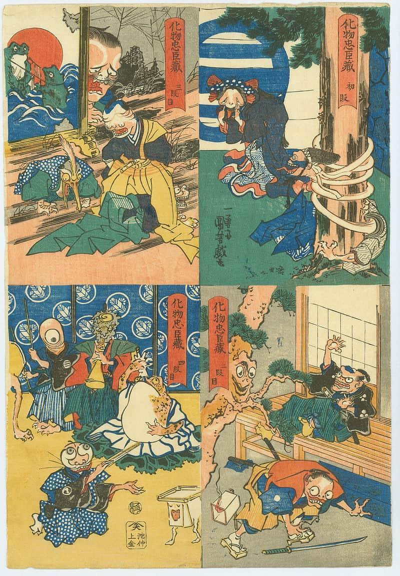 Utagawa Kuniyoshi, The Monster's Chūshingura
