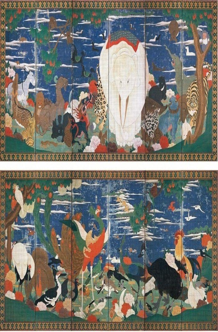 Birds and Animals in the Flower Garden, ukiyo-e