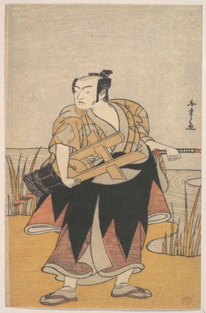 The Fourth Matsumoto Koshiro as a Man Standing on the Bank of a River, by Katsukawa Shunsho, c.1785, ukiyo-e, yakusha-e