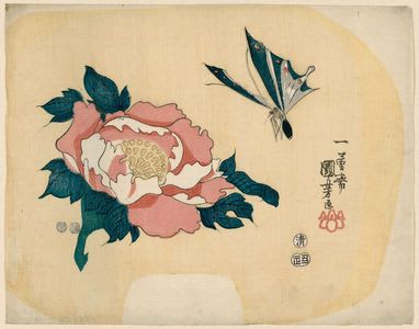Butterfly and Camellia by Utagawa Kuniyoshi