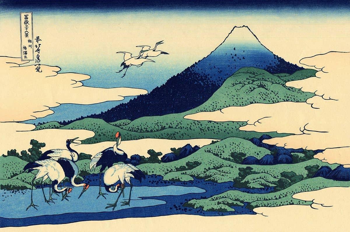Umegawa in Sagami province by hokusai, kacho-ga