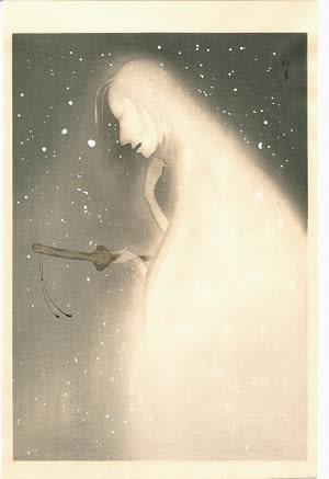 Ghost with Sword, by Uemura Shoen, c. 1923, bijin-ga