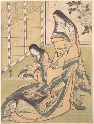 The Third Princess (Onna San no Miya), by Torii Kiyonaga, c.1781, bijin-ga