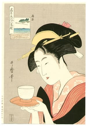 Saishutsu - Famous Six Beauties, by Kitagawa Utamaro, c.1795, bijin-ga